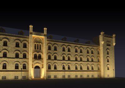 Iluminacja Urzędu Marszałkowskiego w Gdańsku